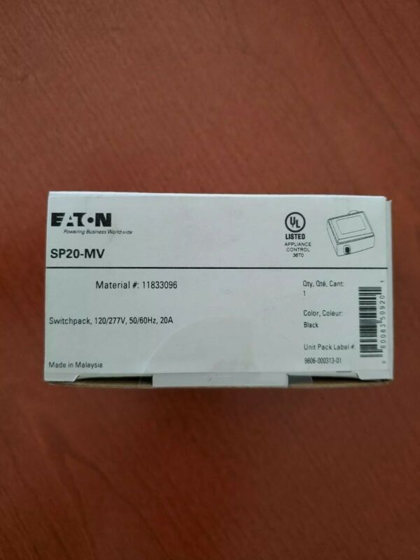 EATON SP20-MV COOPER CONTROLS GREENGATE SWITCHPACK 120/277V NEW IN BOX 100 avbl.