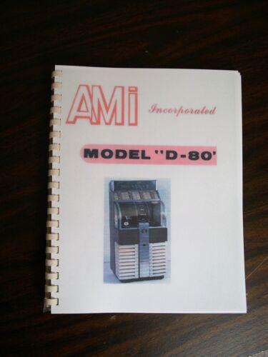 AMI D-80 Jukebox Service & Parts Manual
