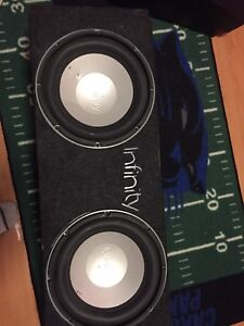 Infinity Subwoofers / Custom Box / Amp / THESE POUND