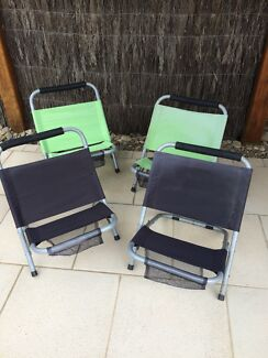 Outdoor Chairs Beach / Pool x 4 Fold Up Great Condition  Invermay Ballarat City Preview