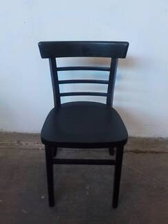 B16068 Single Black Timber Kitchen Dining Chair Mount Barker Mount Barker Area Preview