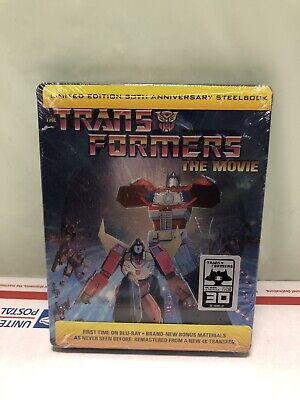 Transformers: The Movie (Blu-ray Disc, 2016, 30th Anniversary Edition SteelBook)