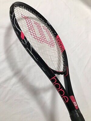 Wilson HOPE Tennis Racket Black & Pink Breast Cancer Awareness 4 1/4/ 2 Wilson Hope Tennis Racket