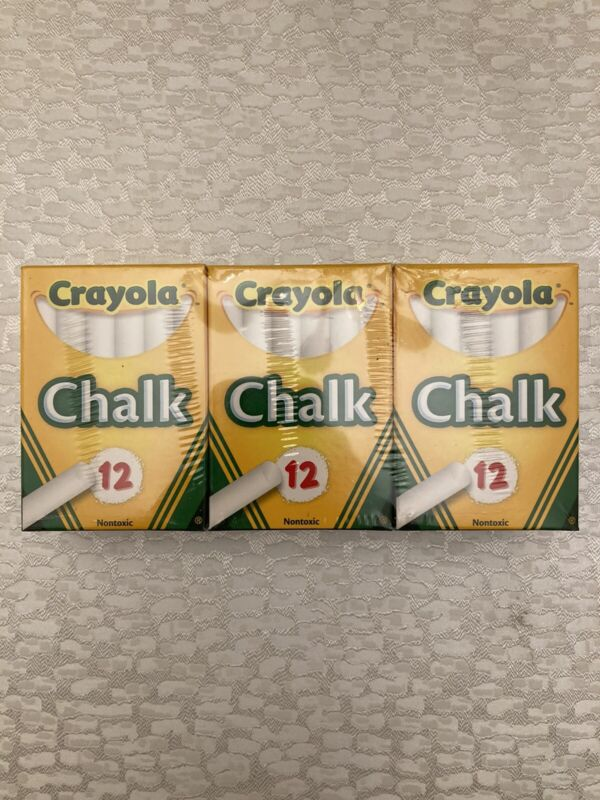 Crayola White Chalk Non-Toxic  6X12 Pack/72 Pieces Total! Free Shipping!