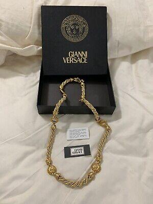Gianni Versace dual tone Vintage Medusa Necklace UNIQUE RARE