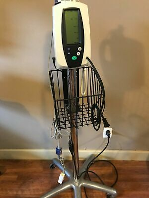 Welch Allyn 420 Series Spot Check Patient Monitor Spo2 Temp W Stand
