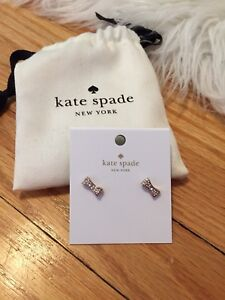 Kate spade rose gold bow earrings *BRAND NEW*