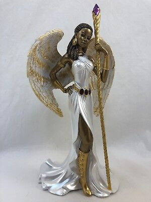 -  Wisdom Of The Amethyst ~ Angel Figurine ~ By Keith Mallett Hamilton Collection
