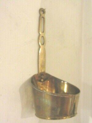 Antique brass measuring/heating pot. 8
