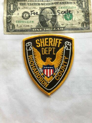 Richardson County Nebraska Police Patch (Sheriff Dept.) Un-sewn in great shape
