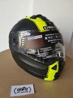 CABERG Casco Pieghevole TOURMAX BIANCO METALLIZZATO Moto parasole Pinlock XL 61//62