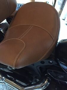 Indian  Scout tan extended reach seat