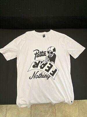 Patta Fear Nothing Tee - M - White tweedehands  verschepen naar Netherlands