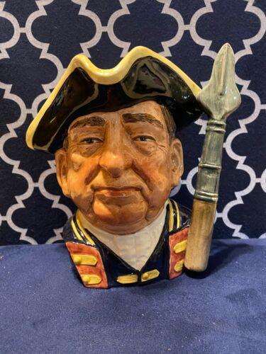 """Royal Doulton """"Guardsman"""" D6568 Large Toby Mug """"Character Jugs from Williamsburg"""