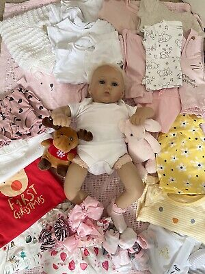 Reborn Doll And Clothes Bundle