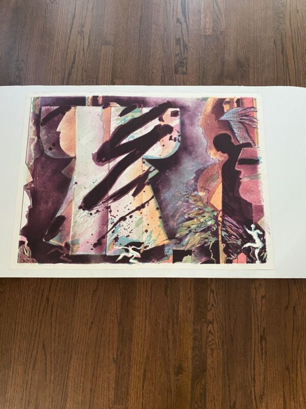 """Will Petersen """"August Dancer"""" Lithograph in color Signed 4/30"""