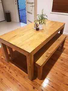 Solid wood dining table Georges Hall Bankstown Area Preview