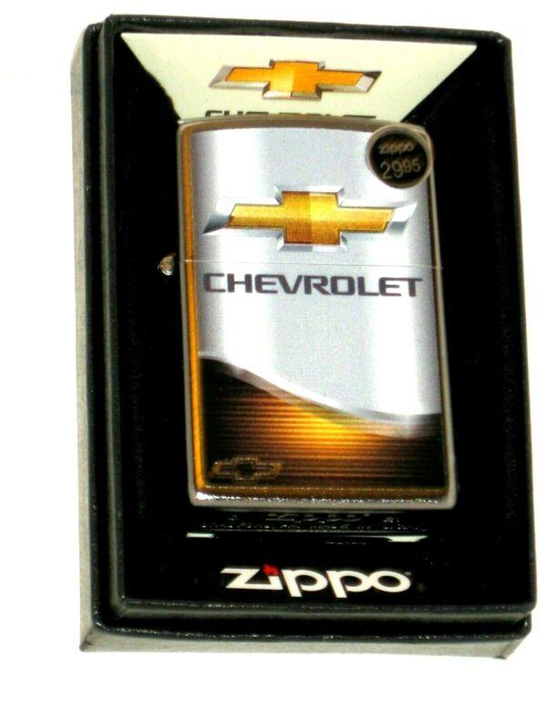 New ZIPPO Windproof USA LIGHTER 01682 Chevy Chevrolet Elegance Bowtie St Chrome
