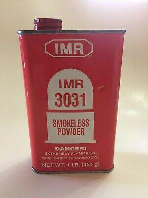 IMR 3031 VINTAGE GUN POWDER EMPTY ADVERTISING CAN / TIN, (REF A)