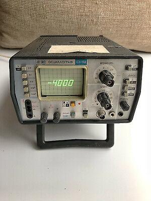 S1-112 1-112 Portable Oscilloscope Soviet Vintage Ussr Rare