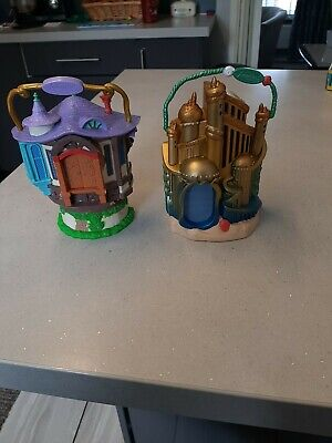 Disney animators' collection mini X 2 Ariel Playset, And Rapunzel Playset Loose