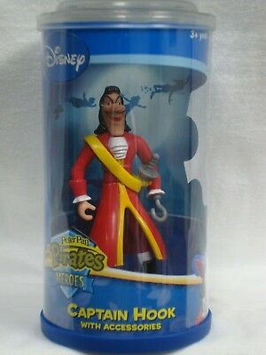 Peter Pan Pirates Heroes Captain Hook with Accessories Action Figure Disney - Peter Pan Accessories