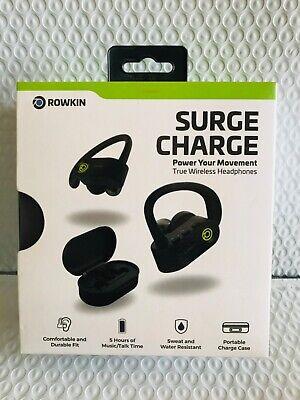 Rowkin - Surge Charge Wireless In-Ear Headphones - Black/Green  NEW!!