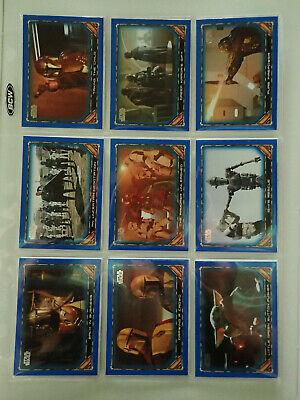 2020 Topps Mandalorian Season 1 Blue Parallel Lot of 61 cards