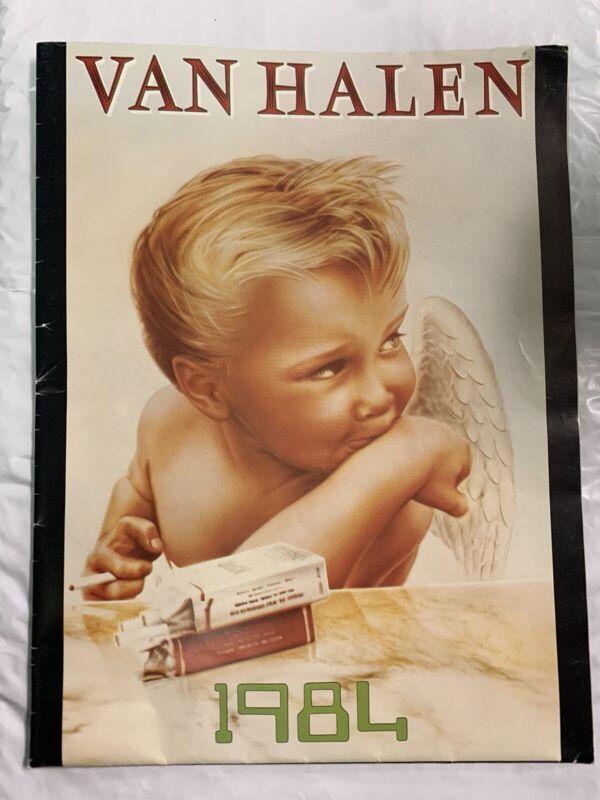 Van Halen 1984 Tour Original Concert Poster & Program - 1984 RIP Eddie  EVH