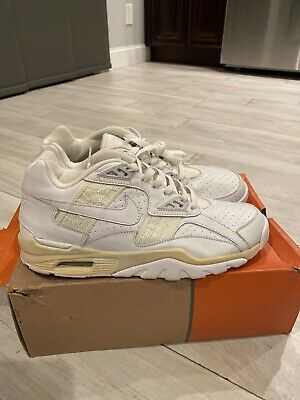 NIKE AIR TRAINER SC LOW 303907-111 WHITE SIZE 10.5 MENS NEW WITH BOX VINTAGE.