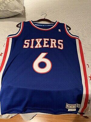 Authentic NBA Hardwood Classics Jersey- #6 Sixers-Julius Irving Size Large!
