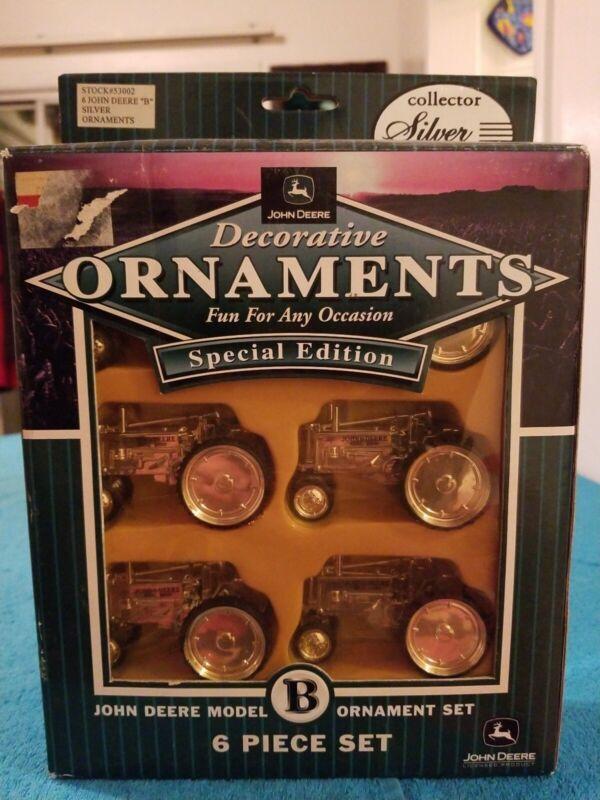 John Deere Decorative ornaments-Set B 6 Piece Set NIB