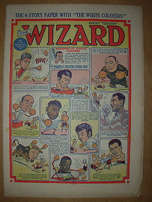 VINTAGE BOYS COMIC THE WIZARD No 1410 FEBRUARY 21st 1953