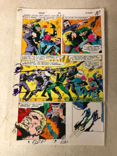 GREEN LANTERN #112 ART color guide GREEN ARROW fights GERMANS TROLLS 1979