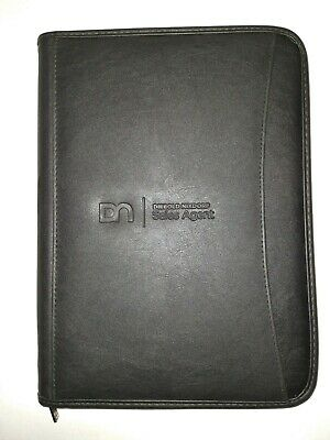 Zippered Padfolio Portfolio Writing Legal Size Notebook Business Folder