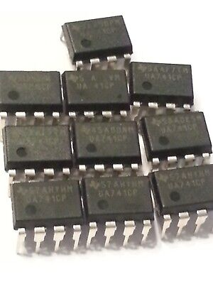 10pcs Ua741cp  Dip-8  741 Ic Chip Operational Amplifiers