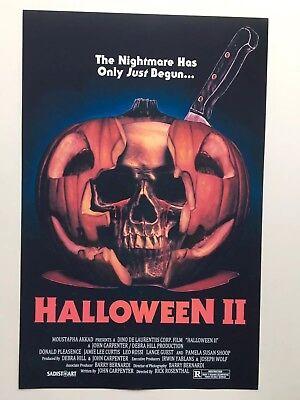 Halloween Ii 1981 (Halloween II Theatrical Release 11x17 Movie Poster)