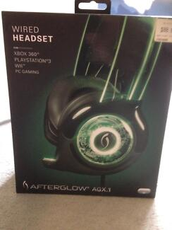 PS3 Afterglow wired headset Carrara Gold Coast City Preview