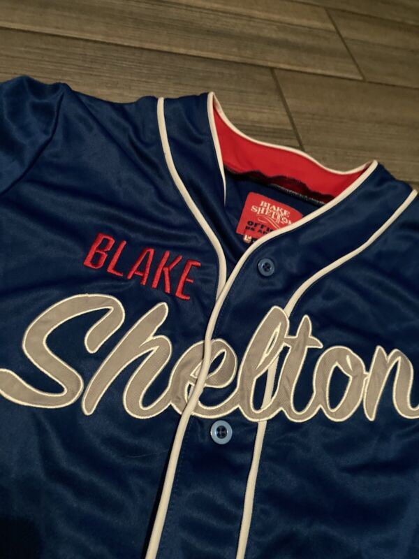Rare Blake Shelton #16 Baseball Sewn Jersey Country Adult SMALL The Voice