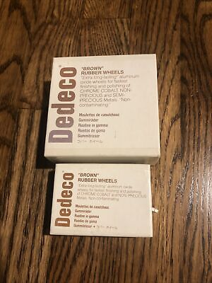 Lot Of 6 Boxes Of Dedeco Rubber Wheels And Knife Edge Polishers