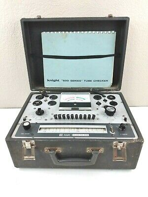 Vintage 1964 Knight Kg-600b Tube Tester Checker With Manual.