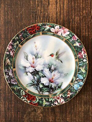 "VTG 1992 Lena Lui, Artist ""The Ruby-throated Hummingbird"" Plate. Perfect!"
