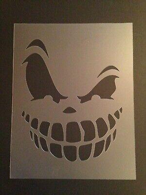 Skull #11 Stencil 10mm or 7mm Thick, skulls, halloween, Crafts, - Halloween Skull Stencils