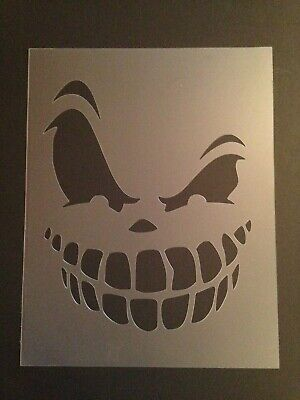 Halloween Airbrush (Skull #11 Stencil 10mm or 7mm Thick, skulls, halloween, Crafts,)