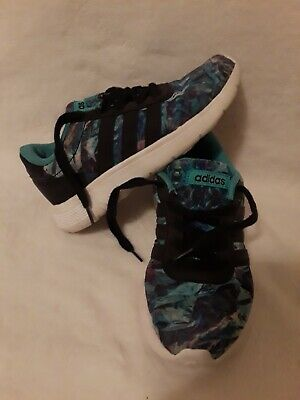 ADIDAS TIE DYE KIDS GIRLS ATHLETIC SHOES SNEAKERS SIZE 12.5