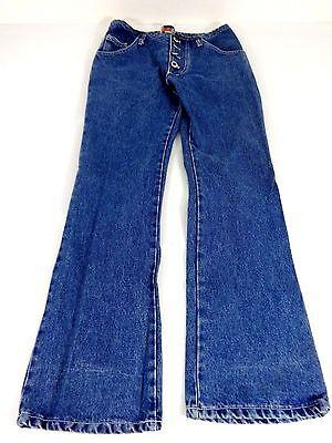 JOY USA WOMENS BLUE DARK WASH COTTON BOOT CUT JEANS SIZE L CUTE