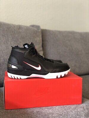 2f4e631436d2 DS Nike LeBron Air Zoom Generation Retro Black White QS AJ4204-001 Size 8.5