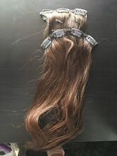 Medium brown clip in hair extensions Chelsea Kingston Area Preview