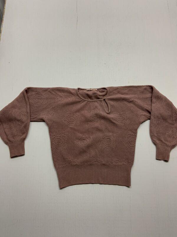 Vintage 1970's French Sweater Medium Dusty Rose VINTAGE