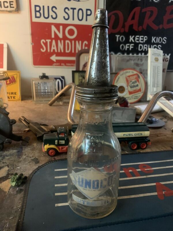 1926 Sunoco Oil Bottle  OFFICIAL.